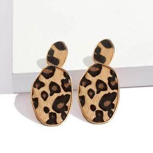 Jewelry - 2pair/$20 - Leopard Print Drop Earrings